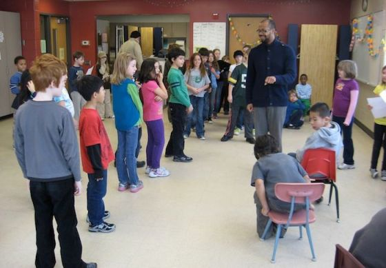 Third and fourth graders worked for over a month choreographing and practicing their dance with Jai.