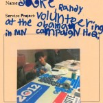 A third grader and his dad volunteer at Obama's Minnesota campaign headquarters