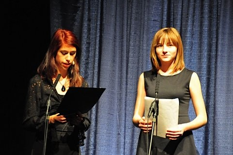 8th graders Abby and Paige were the masters of ceremony.