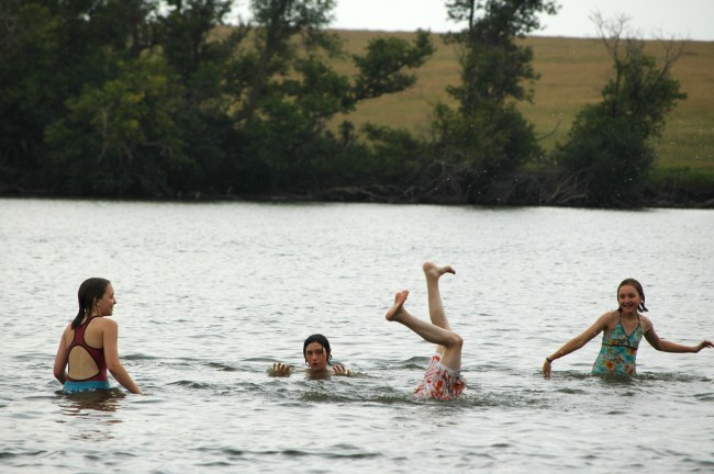 Skipping Stones at Blue Mounds State Park in 2007