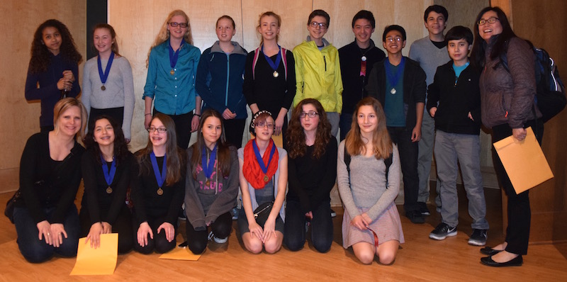 Friends School of Minnesota 7th and 8th graders at History Day Regionals