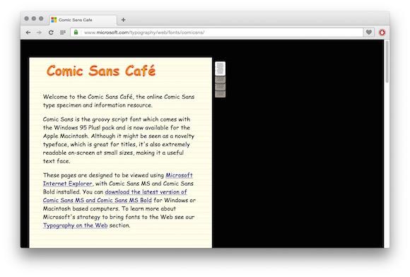 Comic Sans Cafe