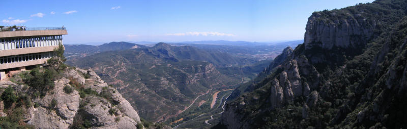 View down the valley at Montserrat