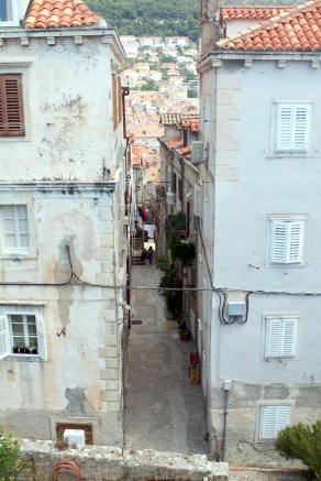 Steep narrow streets