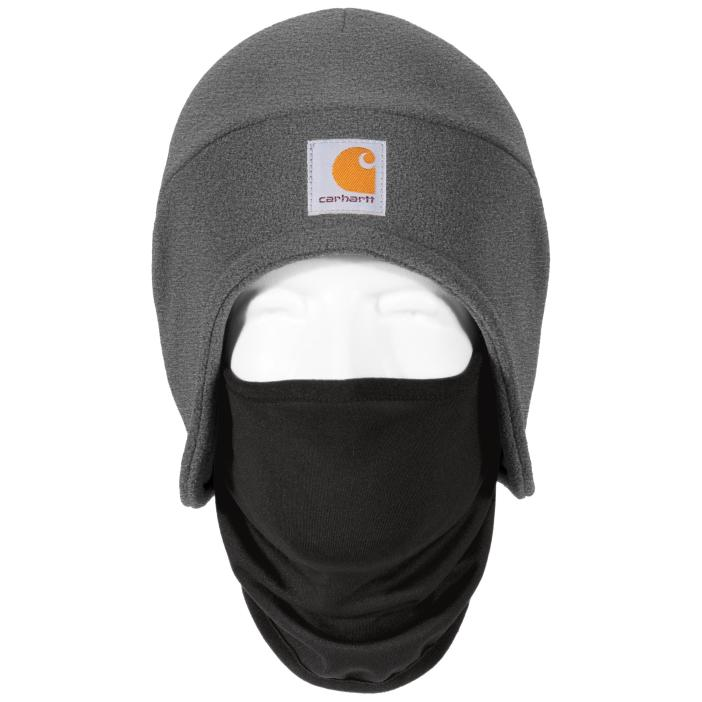Carhartt CTA202 Fleece 2-In-1 Headwear - Charcoal Heather