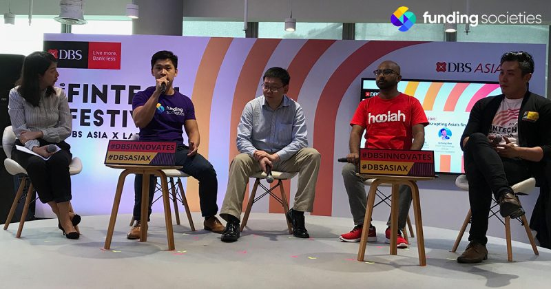 Funding Societies' Head of Data Analytics, Benedict Khong, speaking on entrepreneurs shaping Asia's finance industry