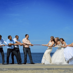 Hold a bride and groom competition to raise money for your wedding