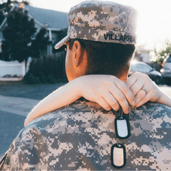 Sell military themed merchandise to raise money