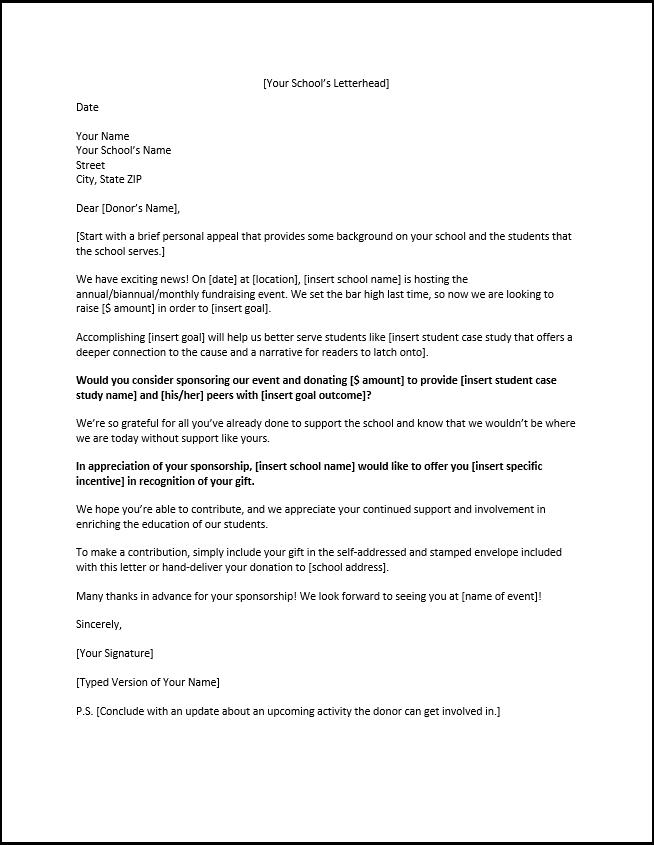 Sponsorship Resume