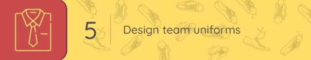 Design your team uniforms with the right sports and recreation tools.