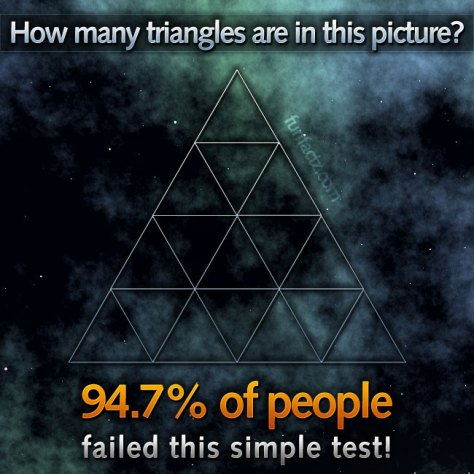 How many triangles are in this picture?