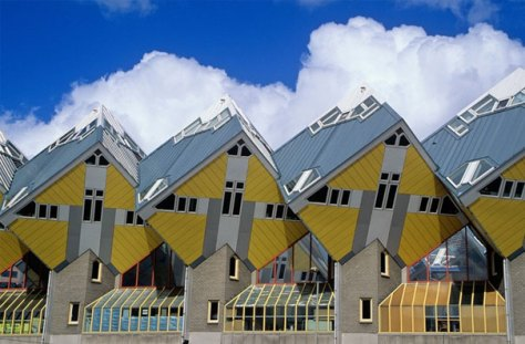 Cubic houses, Rotterdam, Holland