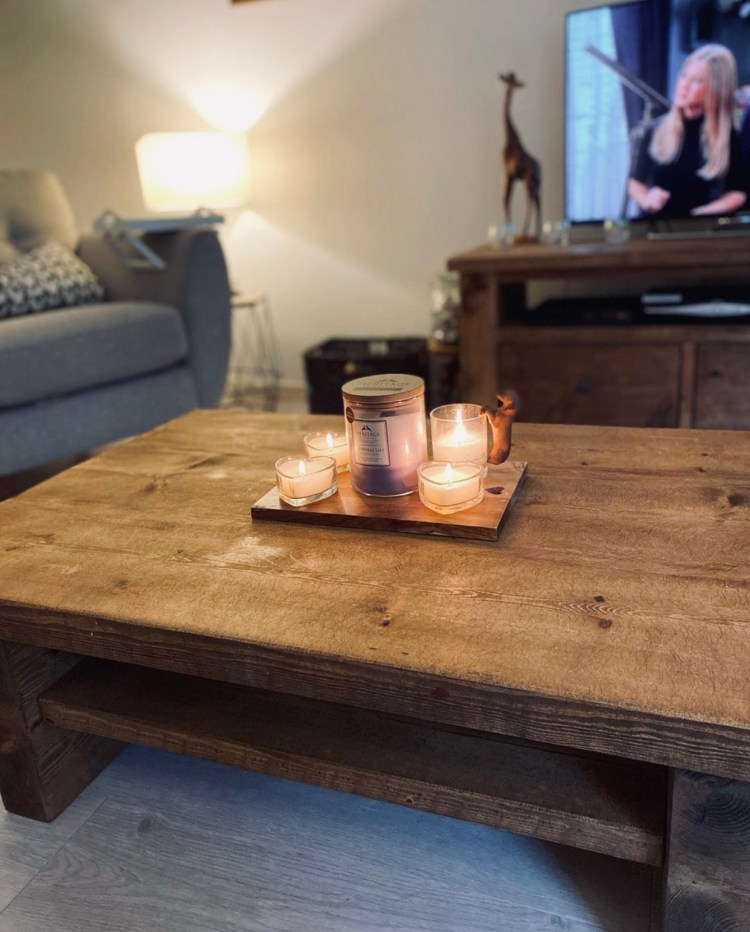 Rustic Coffee Table and Solid Wood TV Unit in a home in Bristol
