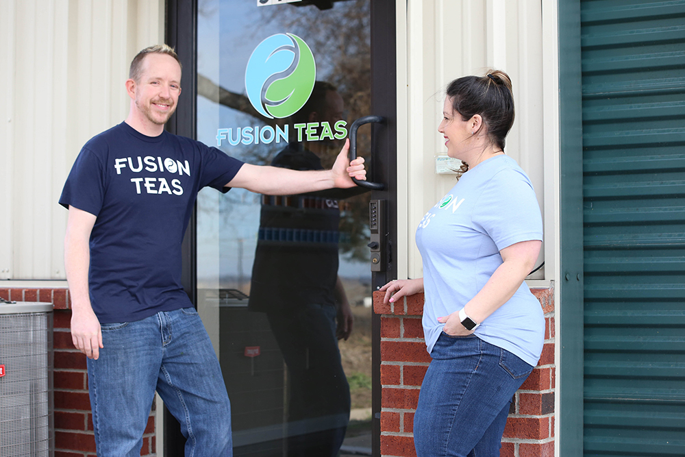 Thomas and Theann at the Fusion Teas Shop in McKinney Texas