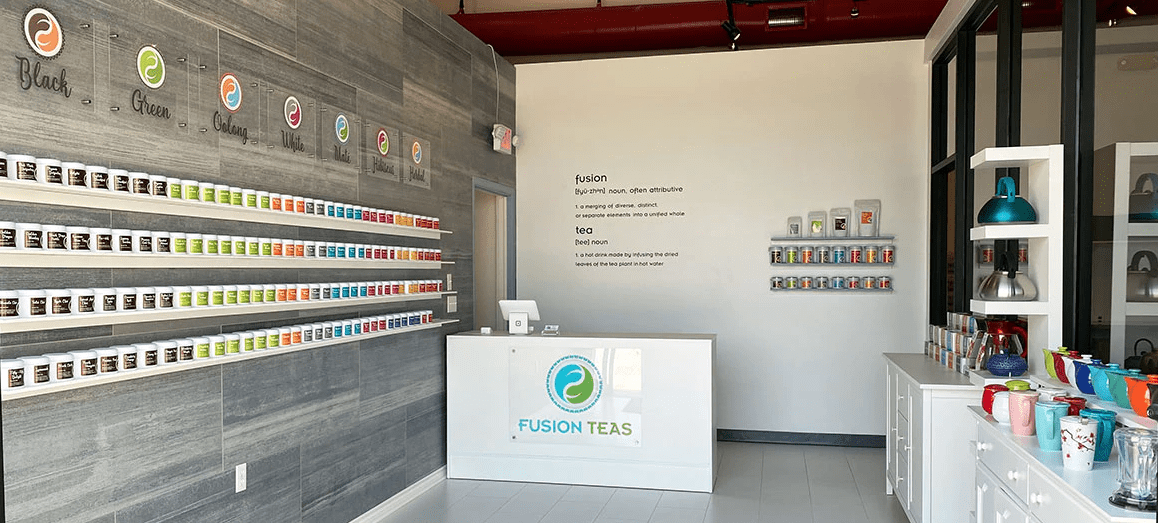 fusion teas new shop in McKinney Texas