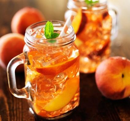Juicy Peach Tea Juice Coolers