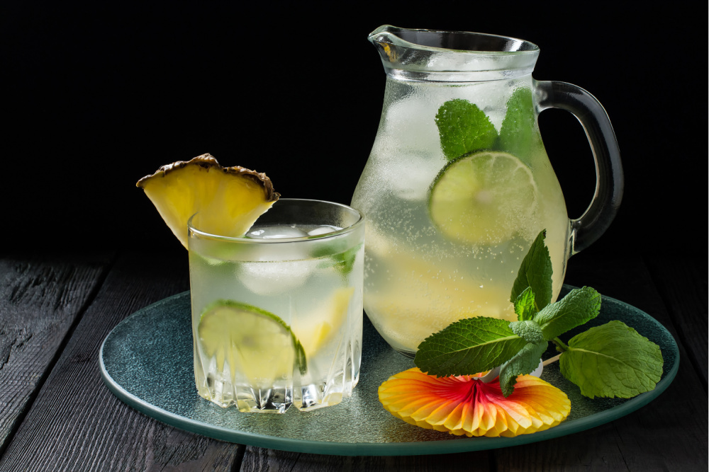 Pina Colada - Summer Tea Mocktails
