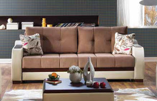 Ultra Optimum Brown Sofa Bed Click-Clack by Sunset