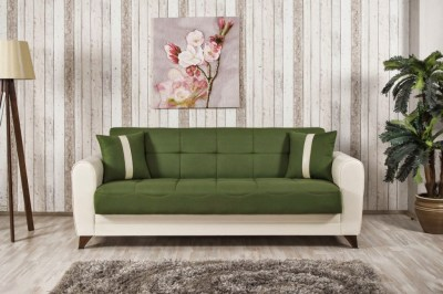 Bella Vista Prusa Green Convertible Sofa Bed by Casamode