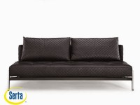 Denmark Convertible Sofa Black by Serta / Lifestyle