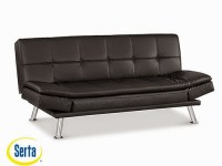 Niles Convertible Sofa Black by Serta / Lifestyle