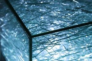 UV bonded glass light box