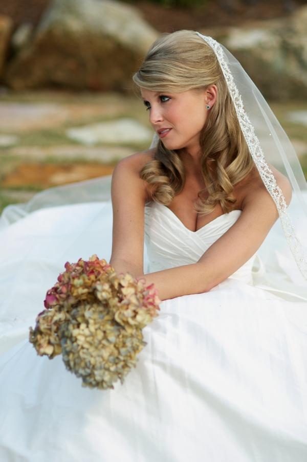 half tied bridal hairstyle