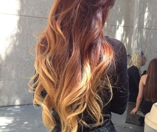 ombre-hair long brown