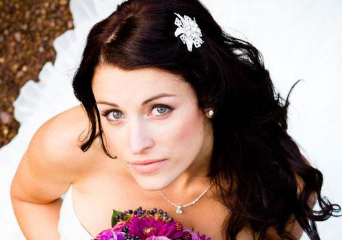 long-dark-brown-hair brides