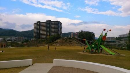 初めて訪れた彩都西公園。