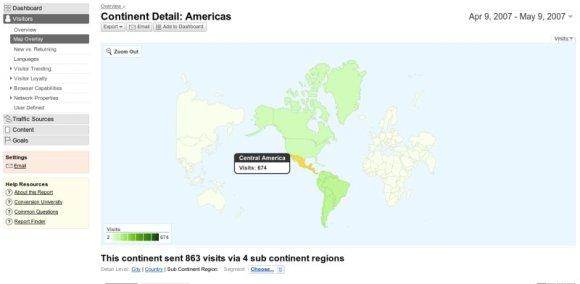 google considera a mexico como america central
