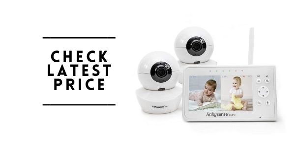 Babysense 4.3 Baby Monitor with Two Cameras
