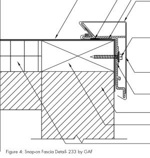 Figure 4: Snap-on Fascia Detail- 233 by GAF