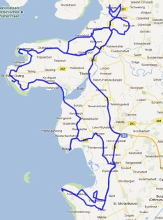 Karte mit Tourverlauf Tagestour Husum