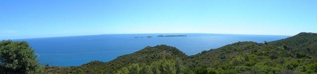 Sardinien Nähe Villasimius Blick auf das Meer
