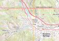A current USTopo topo map for the Manitou Springs, Colorado area.