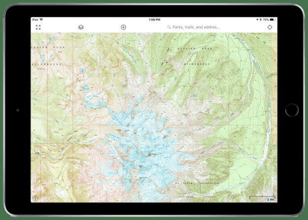 Gaia GPS USGS Topo hiking map