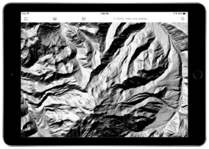Gaia GPS US Shaded Relief hiking maps