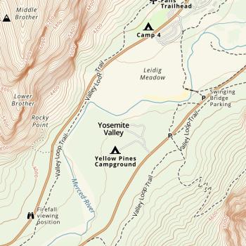 Gaia Topo over Yosemite Valley