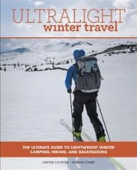 The cover of Lichter's book, Ultralight Winter Travel, shows Lichter backcountry skiing.
