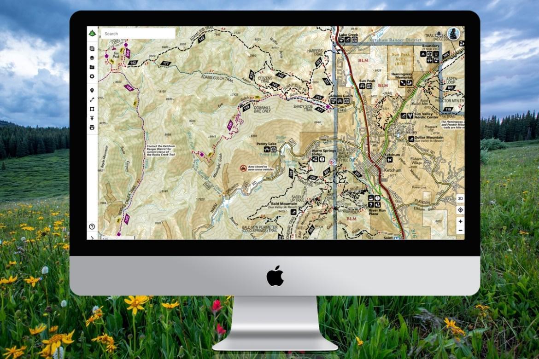 Sun Valley Nat Geo Illustrated Map desktop screenshot.