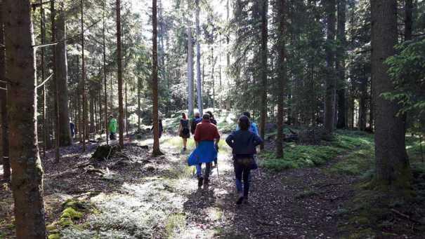 Dann gings in den Wald ...