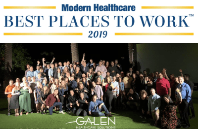 Galen Healthcare Solutions recognized as No. 30 of Best Places to Work in Healthcare in 2019 for Suppliers