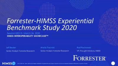 Forrester-HIMSS Experiential Benchmark Study 2020: Engineering the Digital Doctor-Patient Relationship