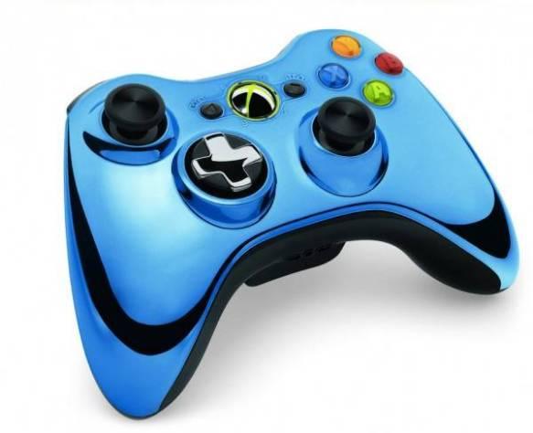 Gamepad Microsoft Xbox 360 Chrome Bleu