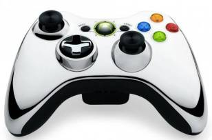 Gamepad Microsoft Xbox 360 Chrome Gris