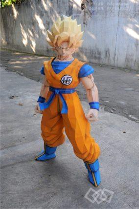 papercraft-dragonball-z-Goku