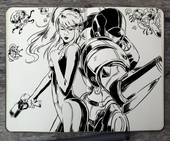 Metroid - 365 Days of Doodles