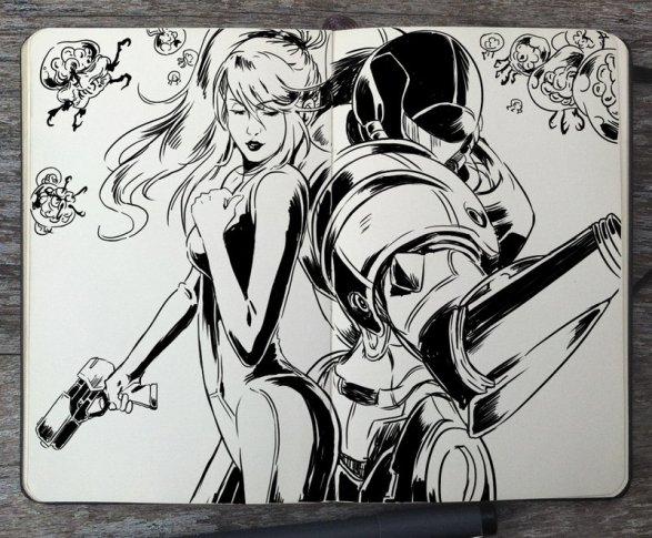 Metroid - 365 Days of Doodles