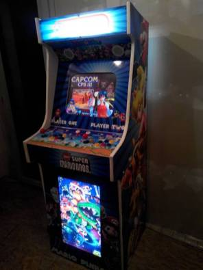 Borne arcade virtua-flipper / allumée